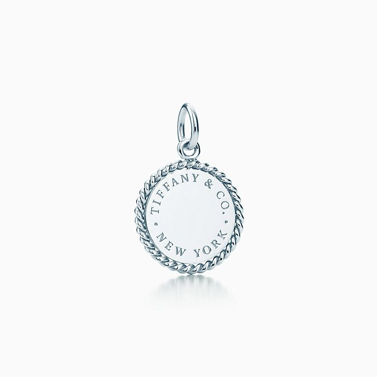 Sterling Silver Amour Charme Rond Pendentif