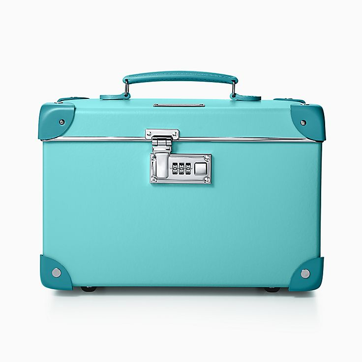 Tiffany X Globe Trotter 13 Vanity Case In Blue