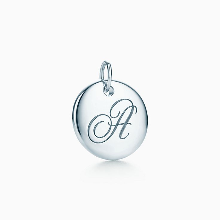 99ff123a6ba3 Tiffany Notes alphabet disc charm in silver on a chain. Letters A-Z ...