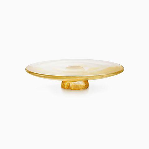 Elsa Peretti® Bone cake plate in handmade, mouth-blown Venetian glass.