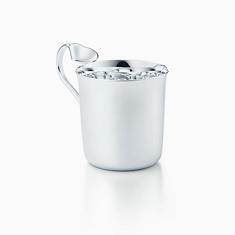 Elsa Peretti® Full Heart baby cup in sterling silver.