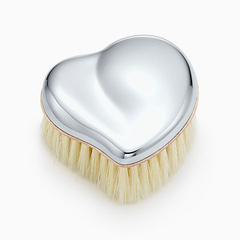Elsa Peretti® Heart baby brush in sterling silver.