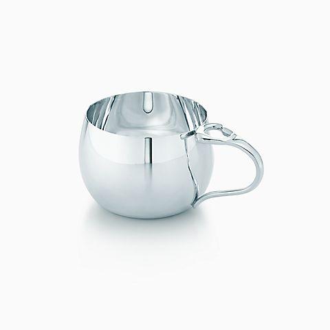 Elsa Peretti® Open Heart baby cup in sterling silver.