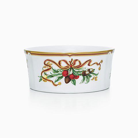 Tiffany Holiday™ wine coaster in porcelain.