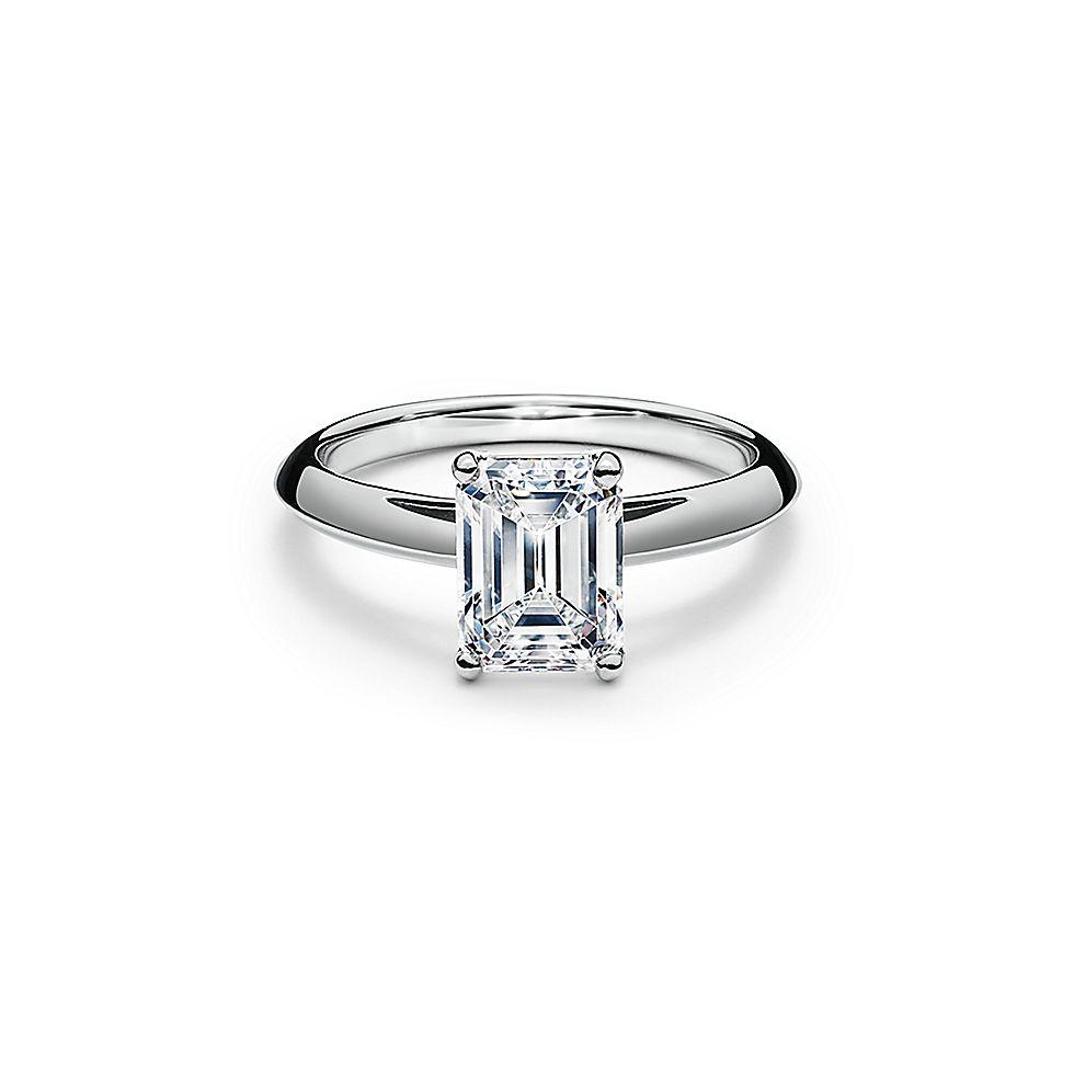 timeless design 02707 e37cf エメラルド カット ダイヤモンド エンゲージメント リング プラチナ