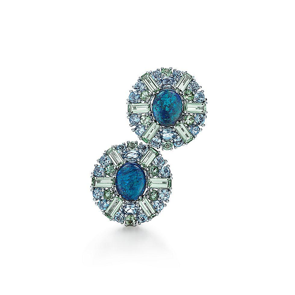 Black Opal Earrings