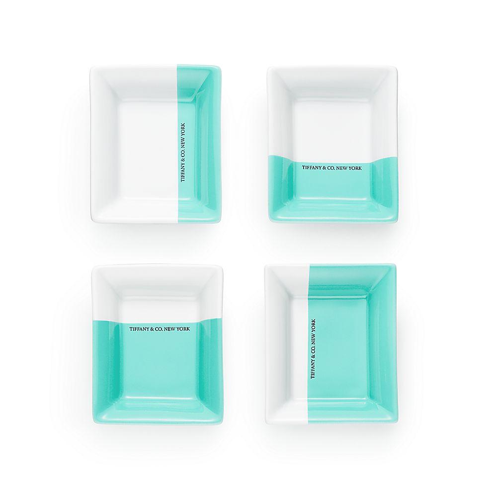 9c572c2c5e Color Block vide poche in porcelain, set of four.   Tiffany & Co.