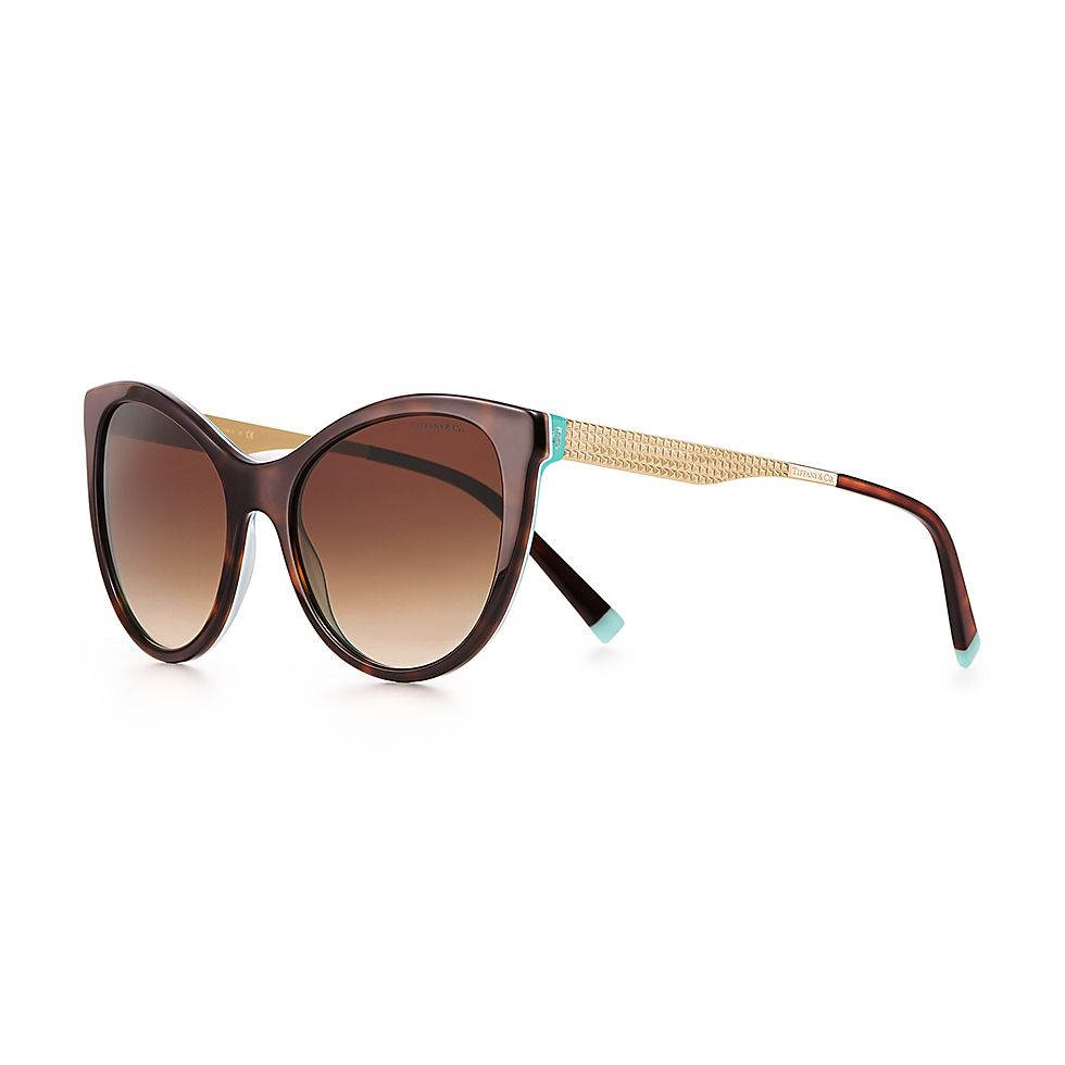 6cb137f30ea Diamond Point butterfly sunglasses in tortoise acetate with gold-colored  metal.
