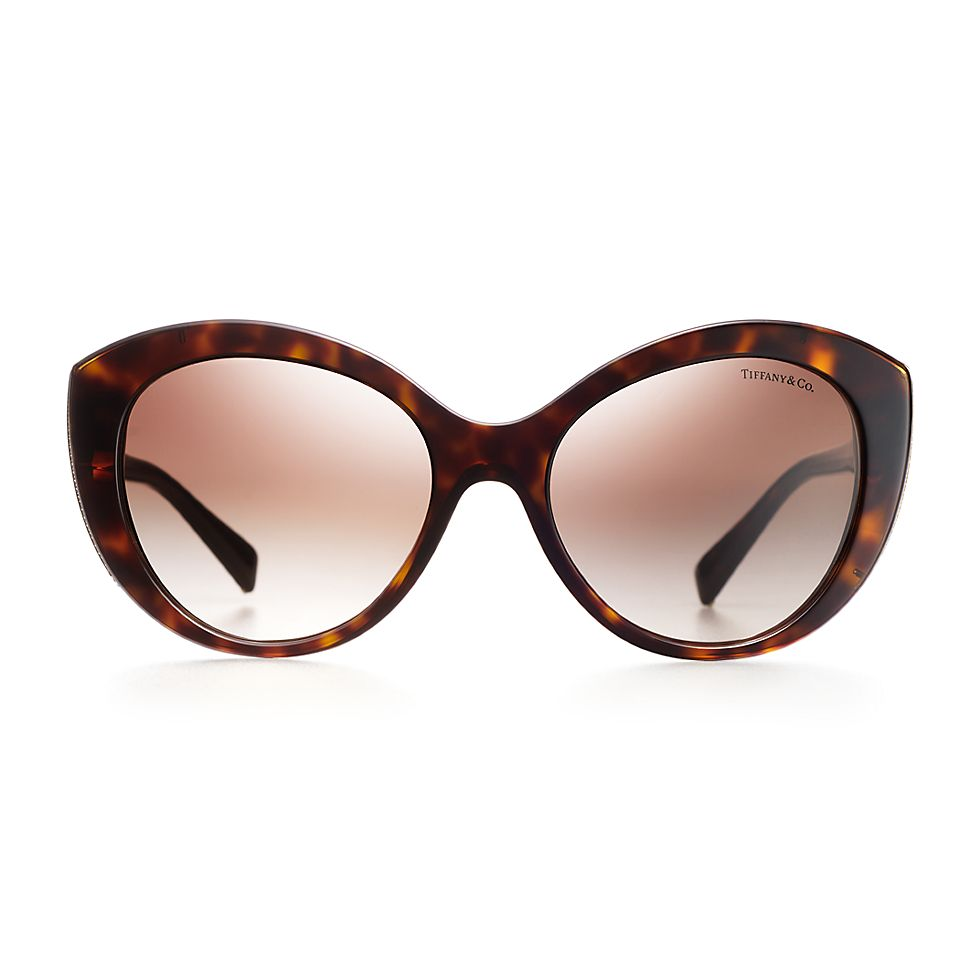 cc00c3e6023 Diamond Point cat eye sunglasses in tortoise acetate and gold-colored  metal.