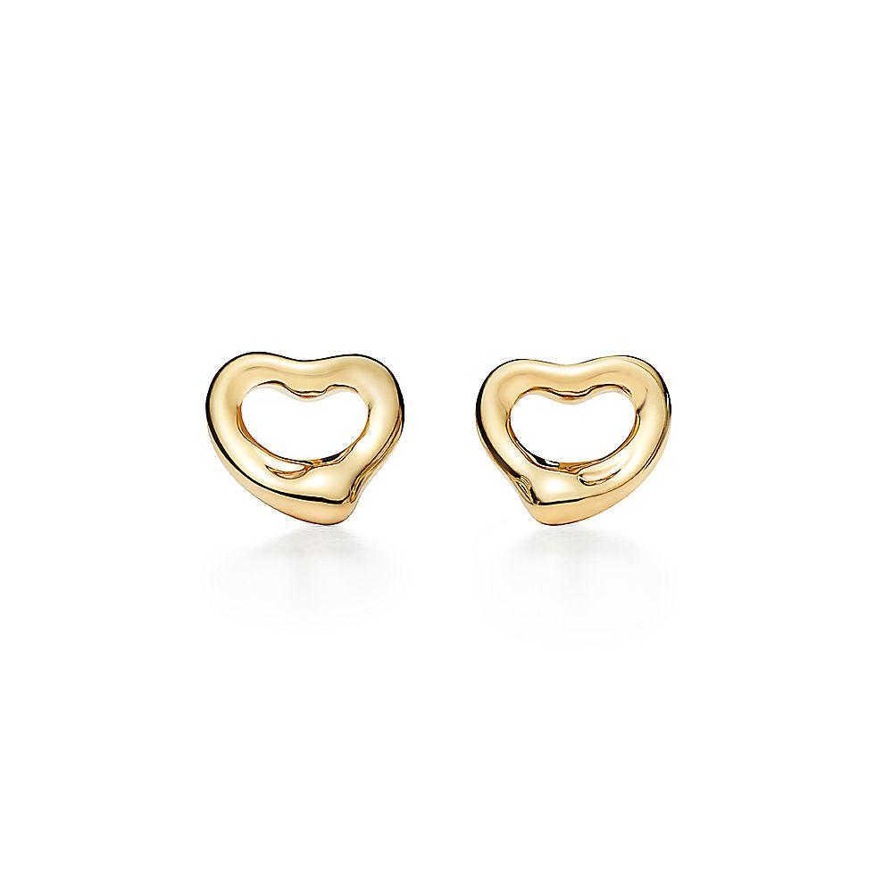 3975eb299084 Aretes de Elsa Peretti® Open Heart en oro de 18 quilates.