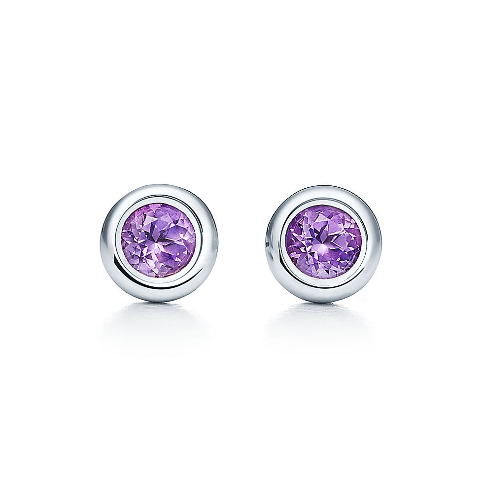 fecea79d3 Elsa Peretti Color By The Yard Earrings In Sterling Silver With. Tiffany Co  Retro Amethyst ...