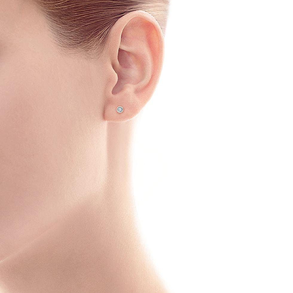 00d2f0fe0 Elsa Peretti® Diamonds by the Yard® earrings in sterling silver.   Tiffany  & Co.