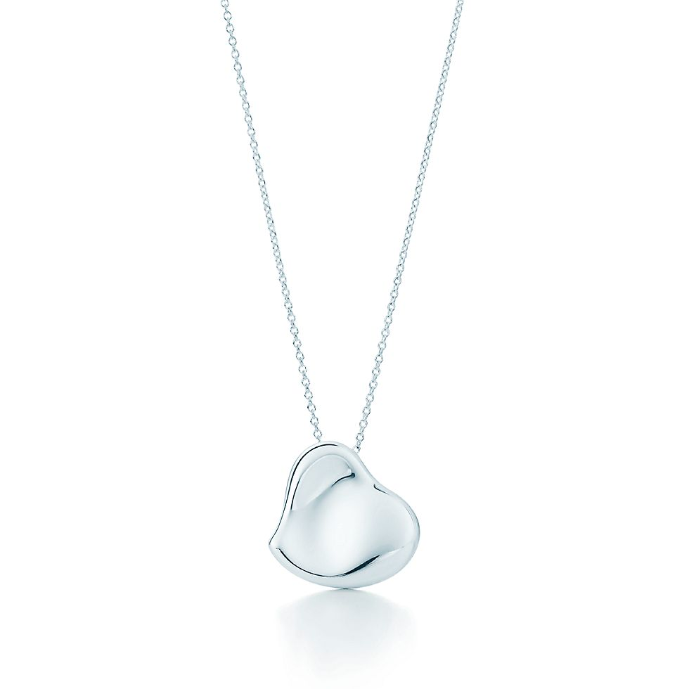 d0b4067bb Elsa Peretti® Full Heart pendant in sterling silver, 20 mm wide. | Tiffany  & Co.