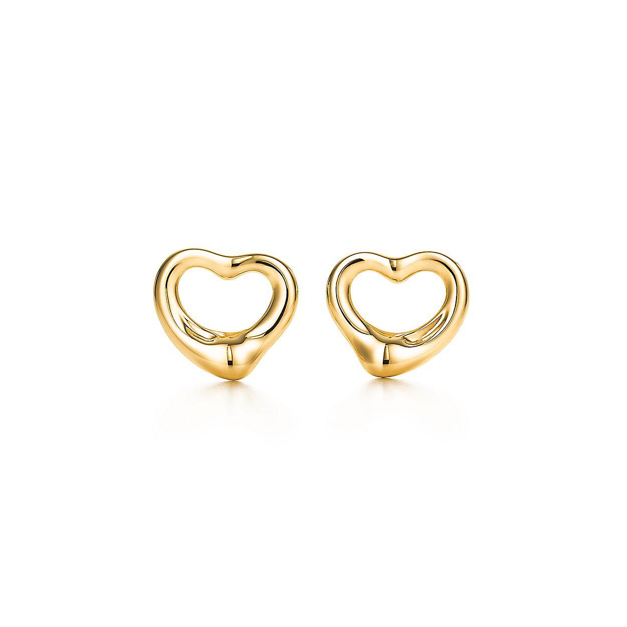13c66d429 Elsa Peretti® Open Heart earrings in 18k gold.   Tiffany & Co.