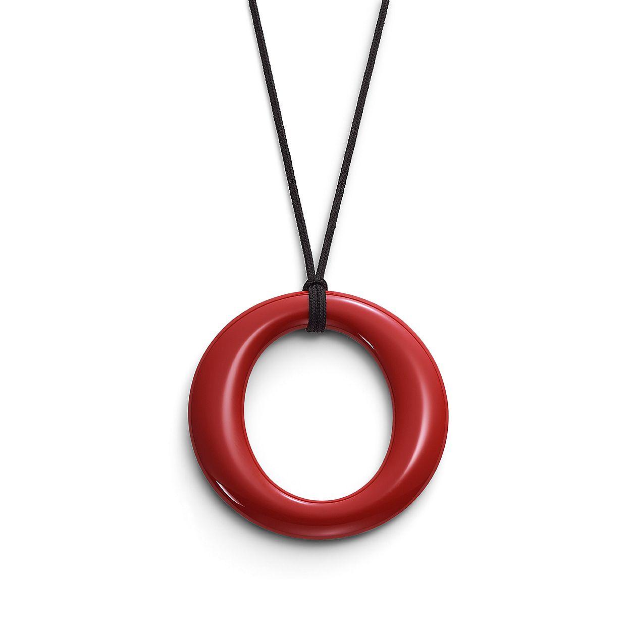 e8c105c70 Elsa Peretti® Sevillana pendant in red lacquer over Japanese ...