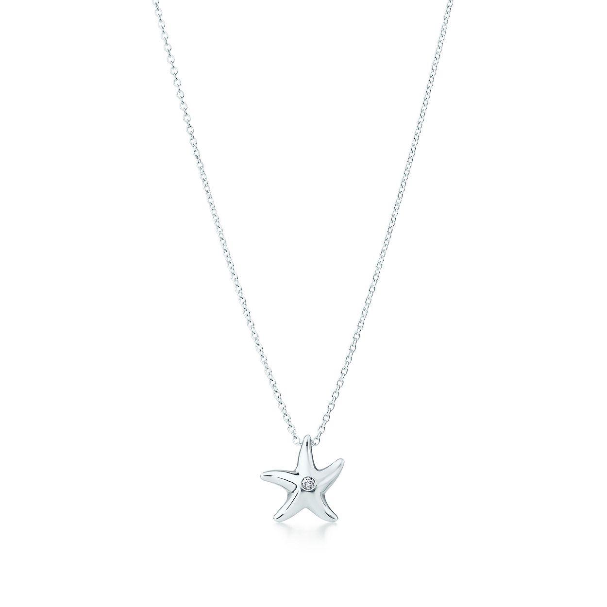 cb616812f Elsa Peretti® Starfish pendant in sterling silver with a diamond ...