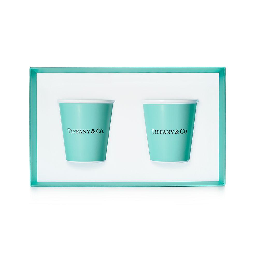 99e520ffedb Shop Tiffany Blue Colored Paper Cups in Bone China
