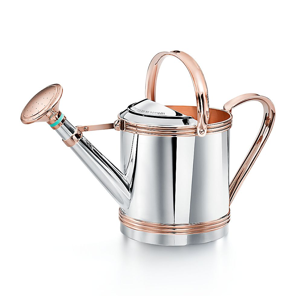 Everyday Objects Sterling Silver And Copper Watering Can Tiffany Co