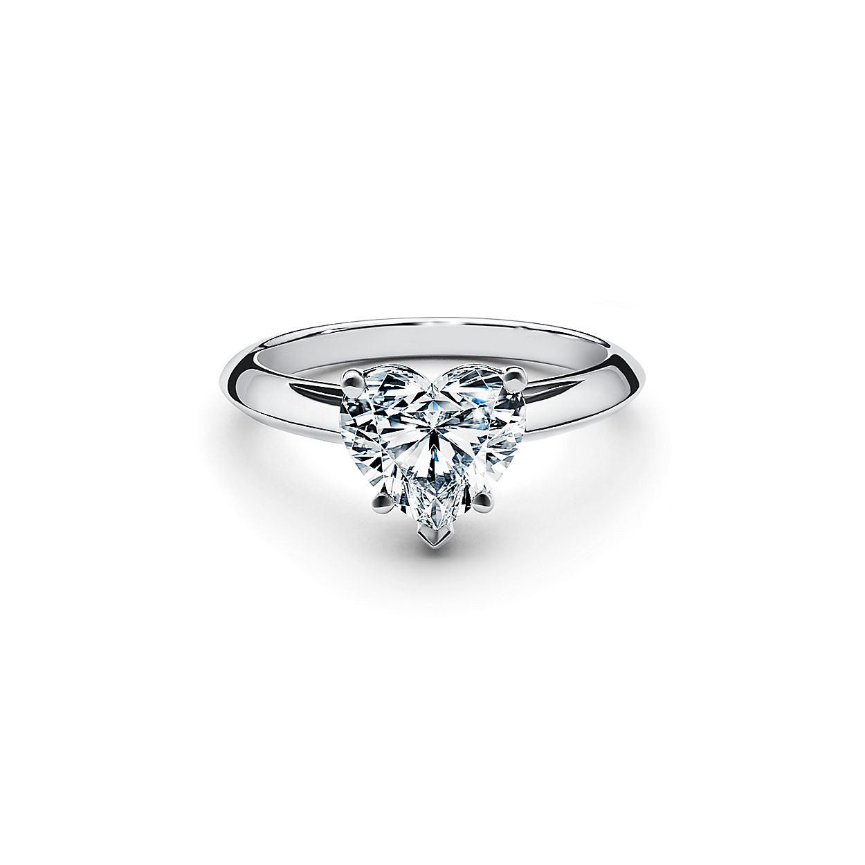 1e3a4286c0199 Heart-shaped Diamond Engagement Ring in Platinum