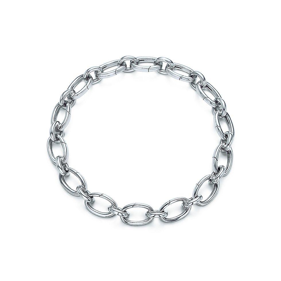 7ecac4b32 Link clasp bracelet in 18k white gold, 7.5