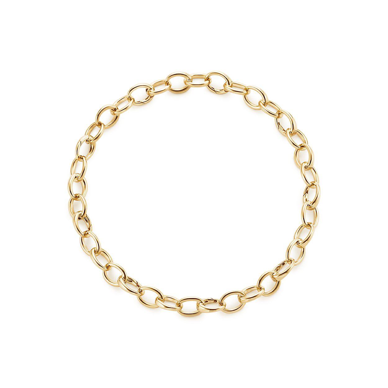 Oval link bracelet in 18k gold, medium  | Tiffany & Co