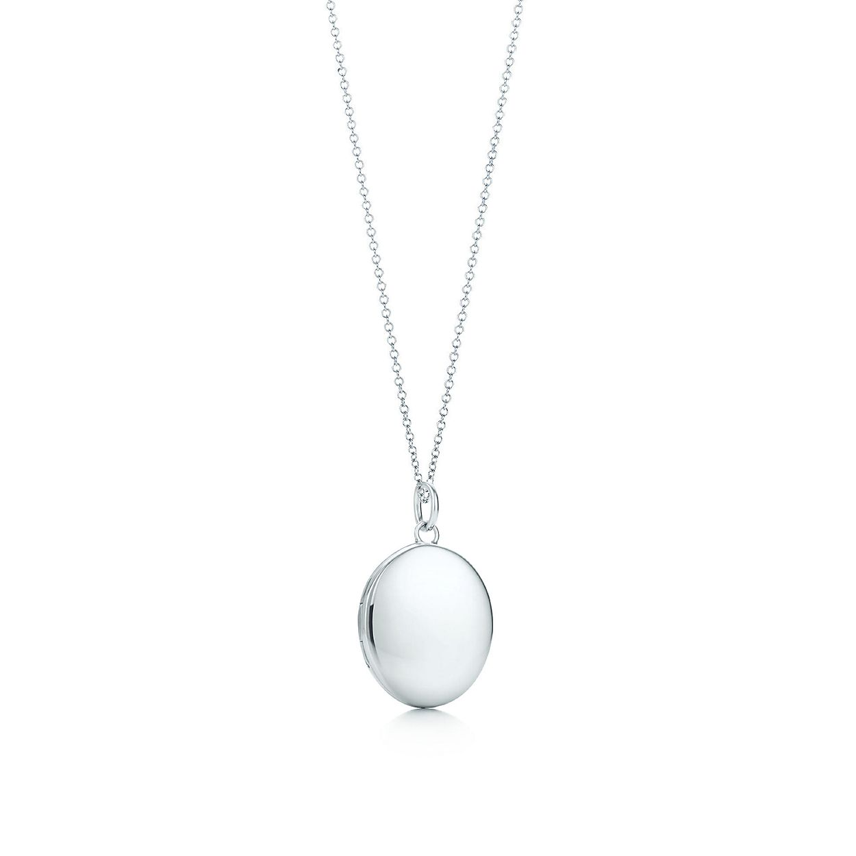 ca0379c5a Oval locket in sterling silver on a chain. | Tiffany & Co.