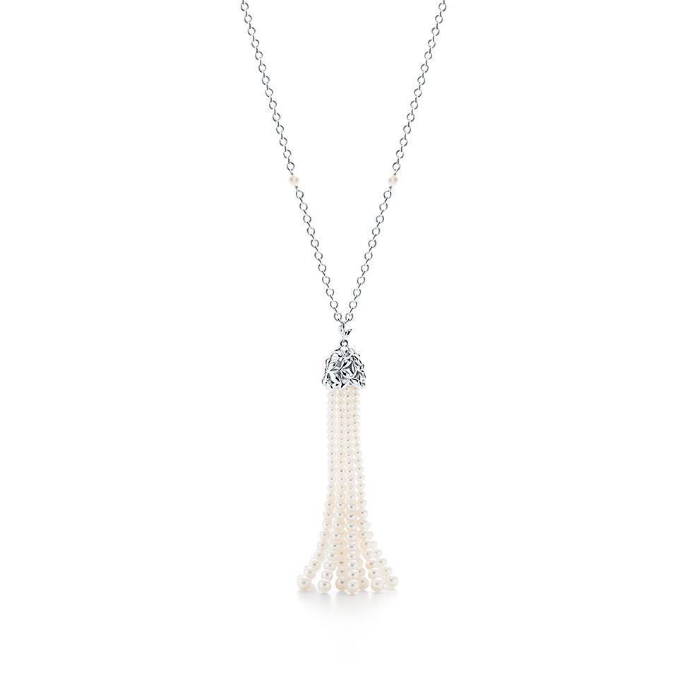 e999e05c2a15 Collar con borlas de perlas Olive Leaf Paloma Picasso® en plata fina ...