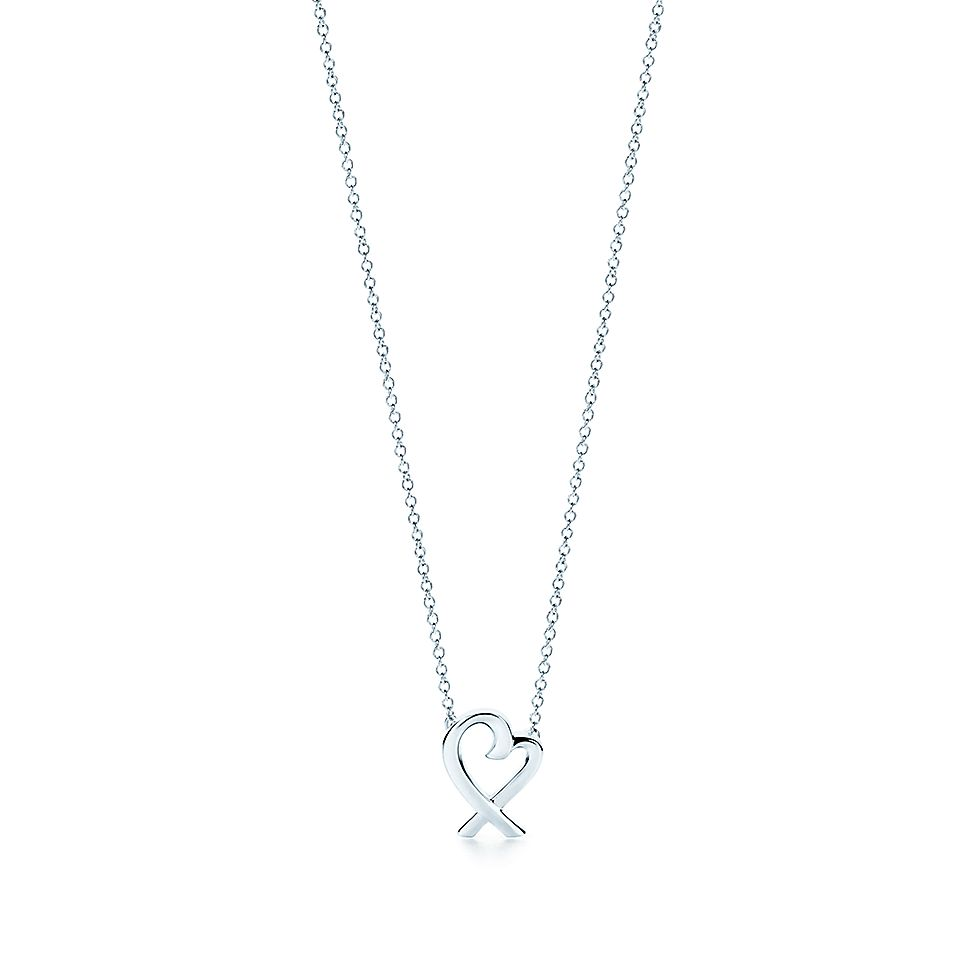 e0023be106d Paloma Picasso® Loving Heart pendant in sterling silver, mini. | Tiffany &  Co.