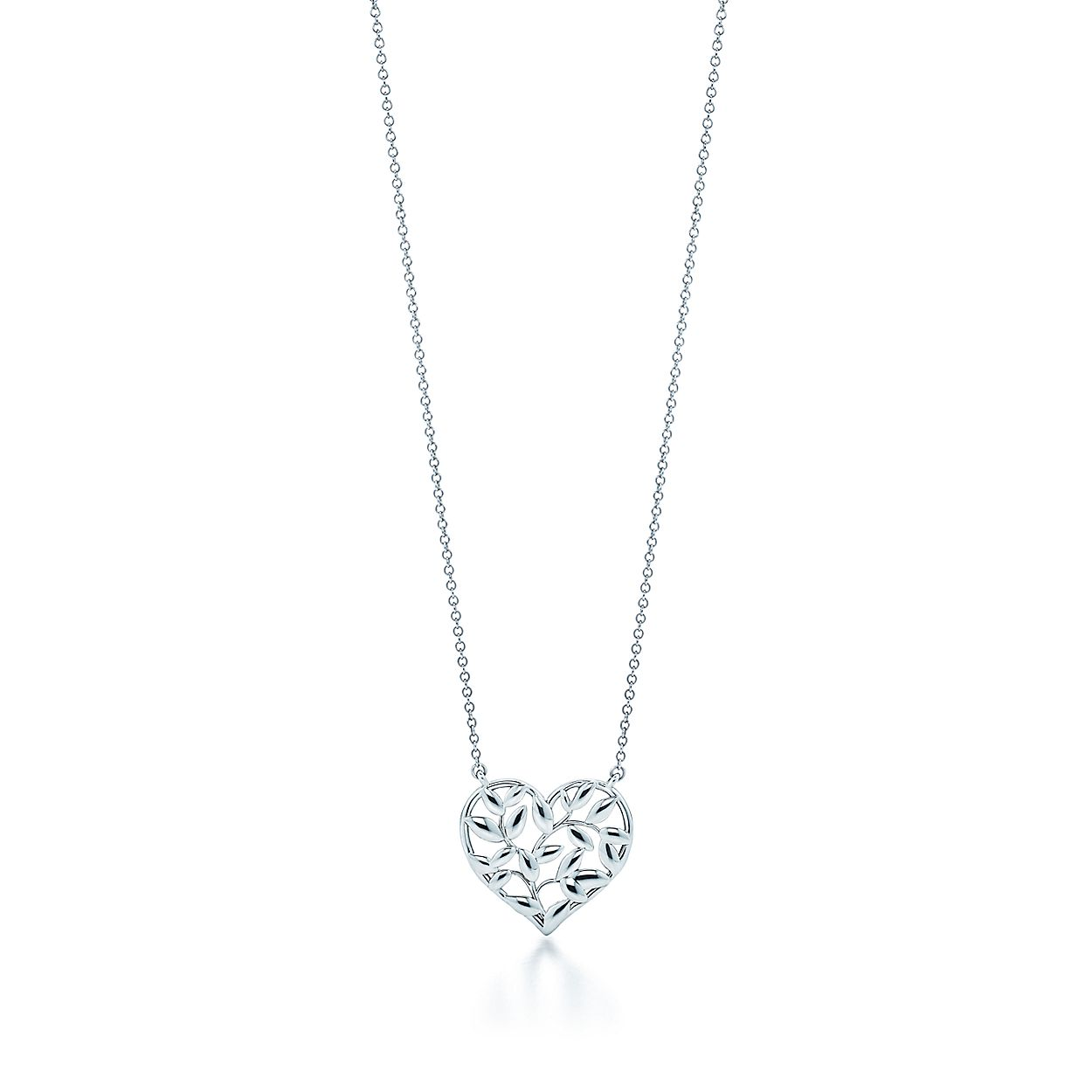 d90bc730b Paloma Picasso® Olive Leaf heart pendant in sterling silver ...