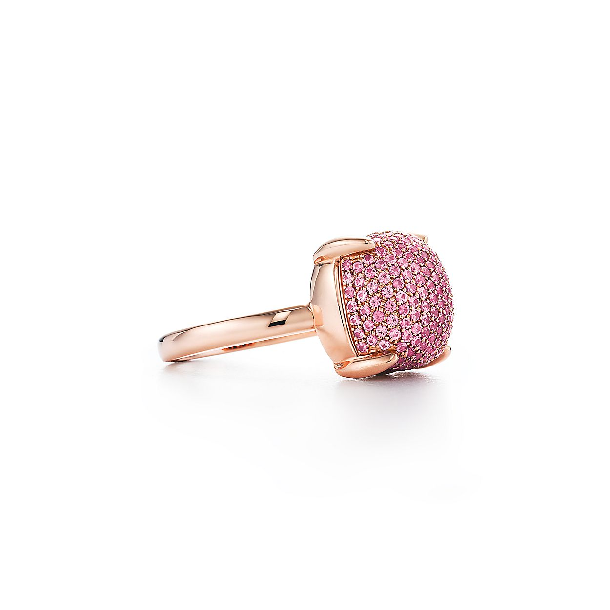 45aa71ae6 Paloma's Sugar Stacks ring in 18k rose gold with pink sapphires ...