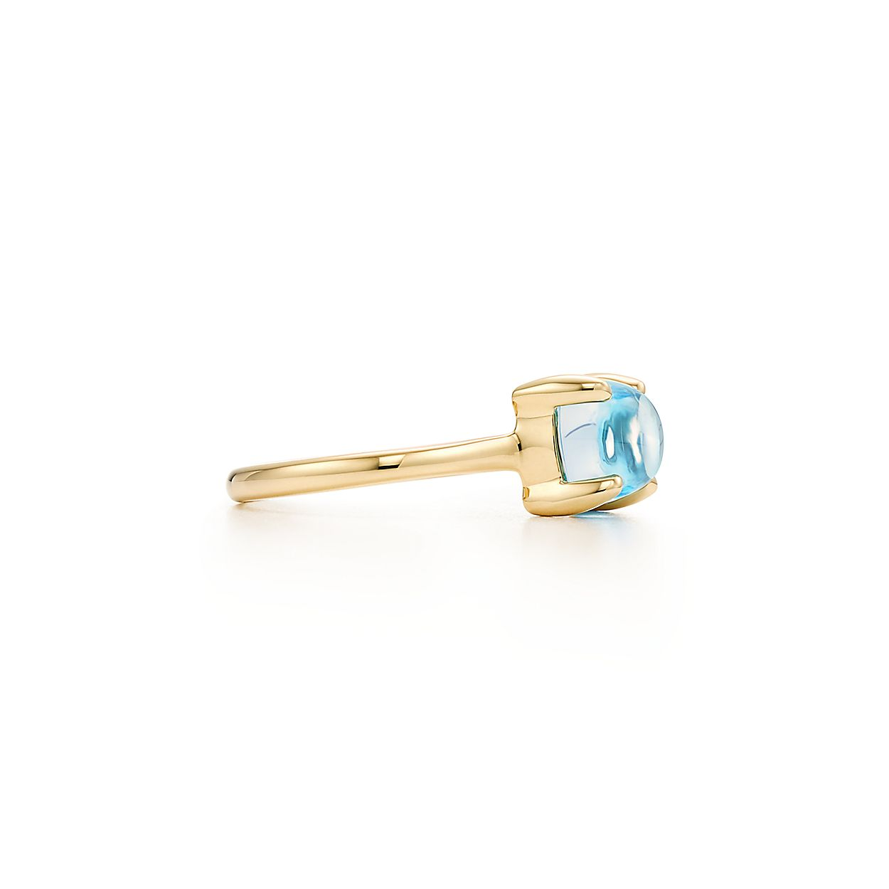 34648ac55 Paloma's Sugar Stacks ring in 18k gold with a blue topaz.   Tiffany ...