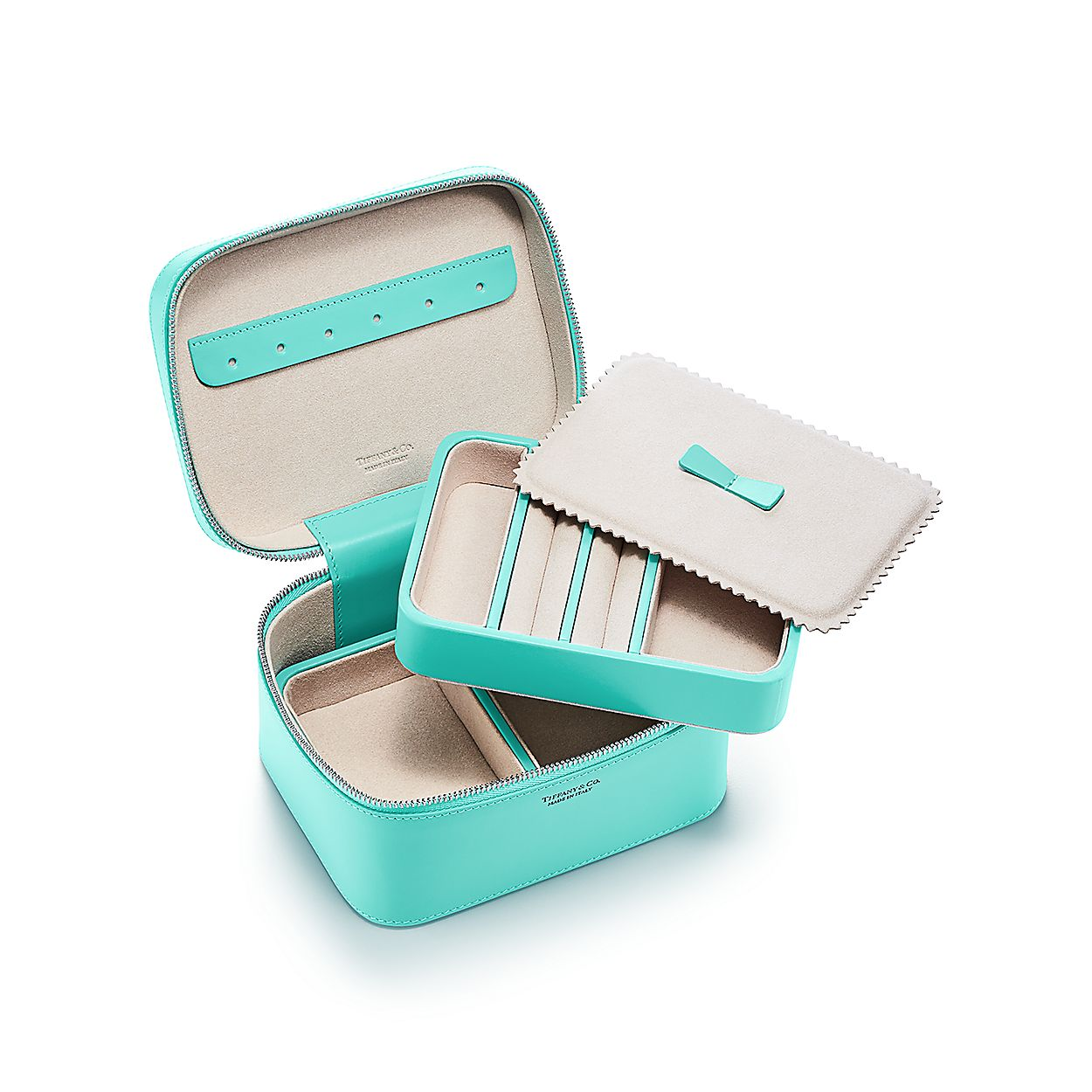 8026d4030 Rectangular jewelry case in Tiffany Blue® smooth calfskin leather ...