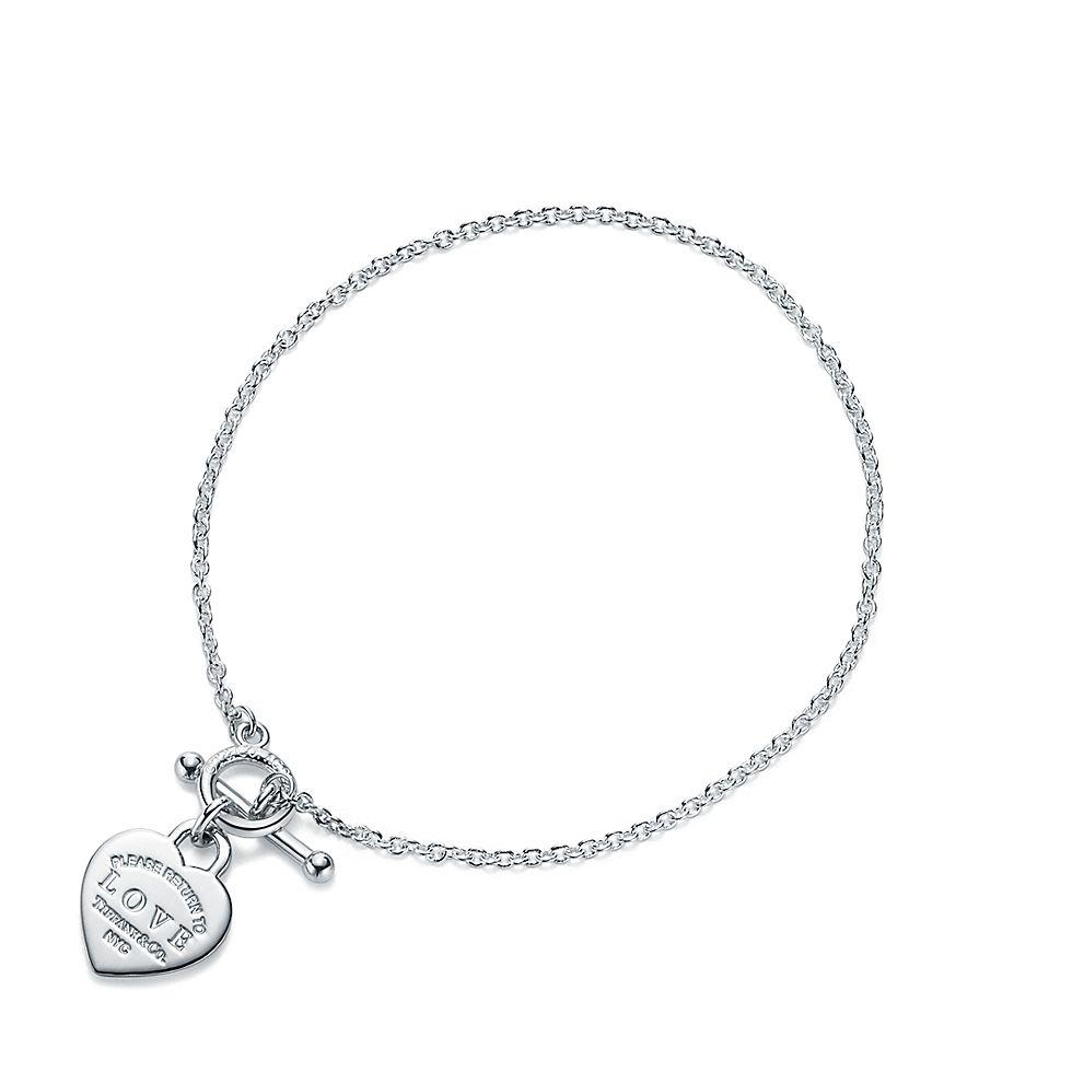 Return To Tiffany™Bracciale Love Heart Tag e chiusura toggle