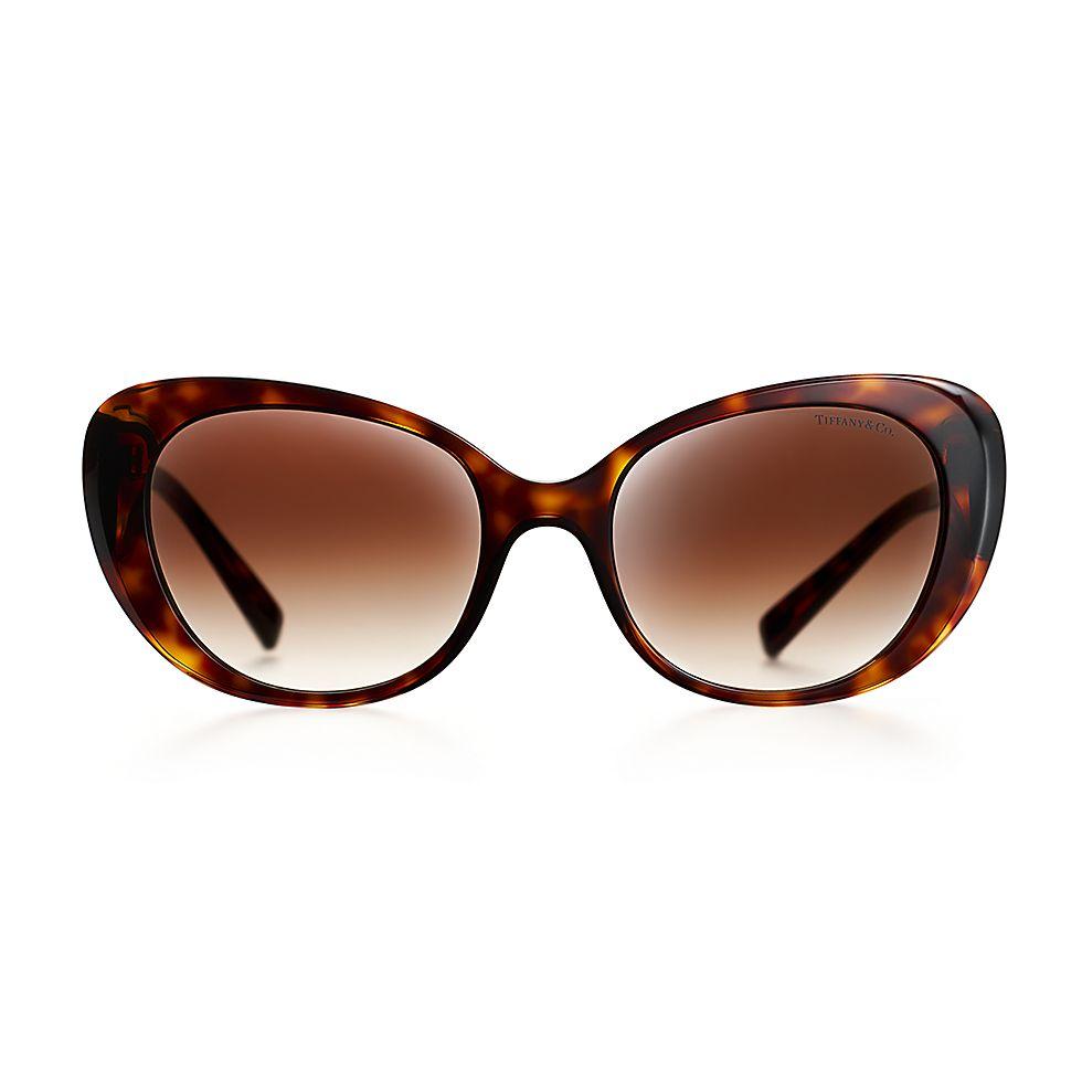 d6efa959a68 Return to Tiffany® Color Splash oval sunglasses in tortoise acetate ...