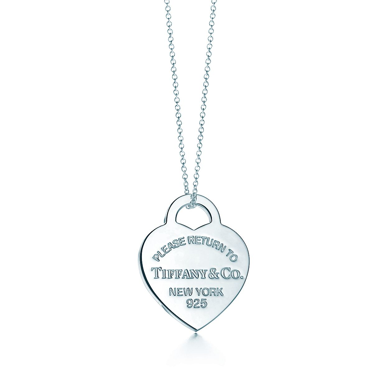 7d41e773c Return to Tiffany™ heart tag pendant in sterling silver, medium ...