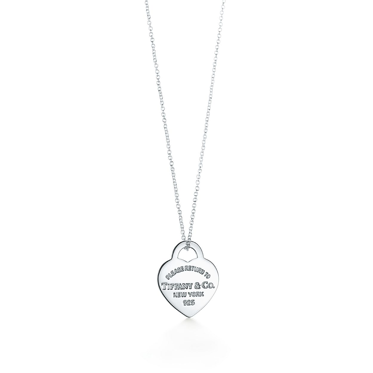 81d8c6684f Return to Tiffany® heart tag pendant in sterling silver, small ...