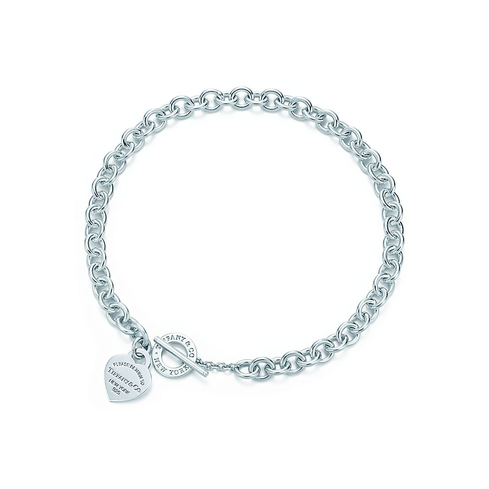 55bb7240a Return to Tiffany® heart tag toggle necklace in sterling silver. | Tiffany  & Co.