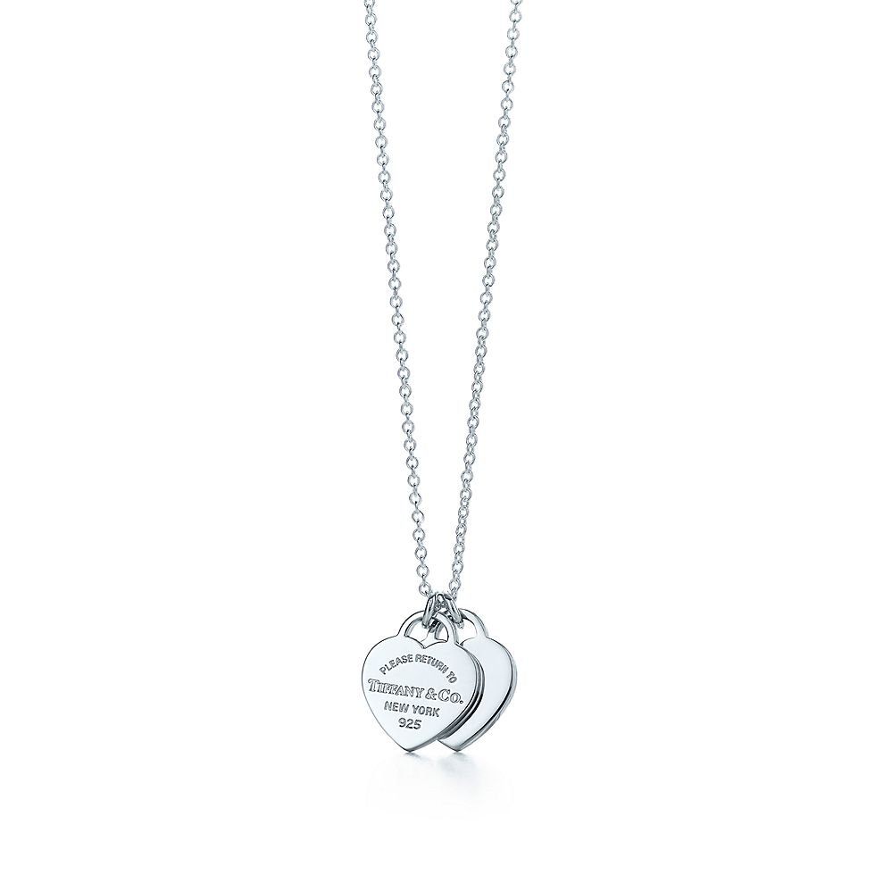 f85ead31453f Return to Tiffany® mini double heart tag pendant in sterling silver ...