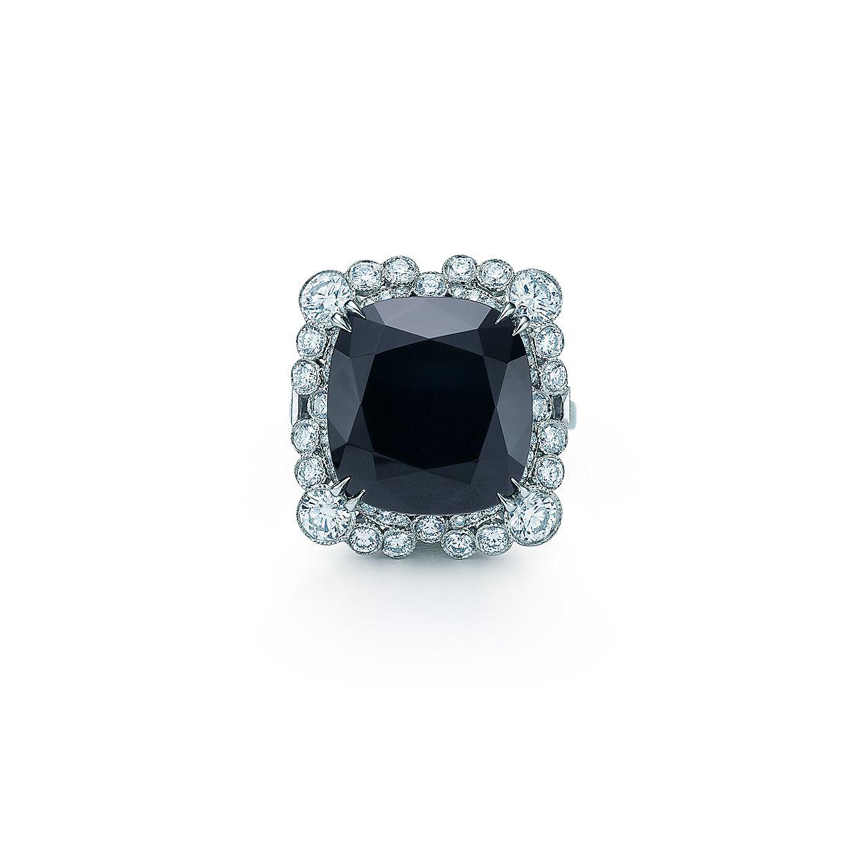 f65510b7099a3 Diamond and Black Onyx Ring