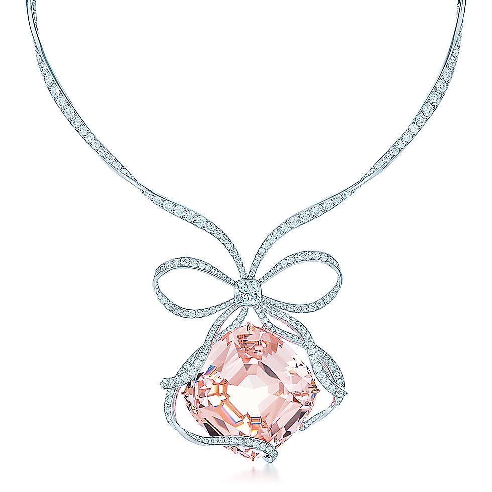 pendant solitaire morganite necklace