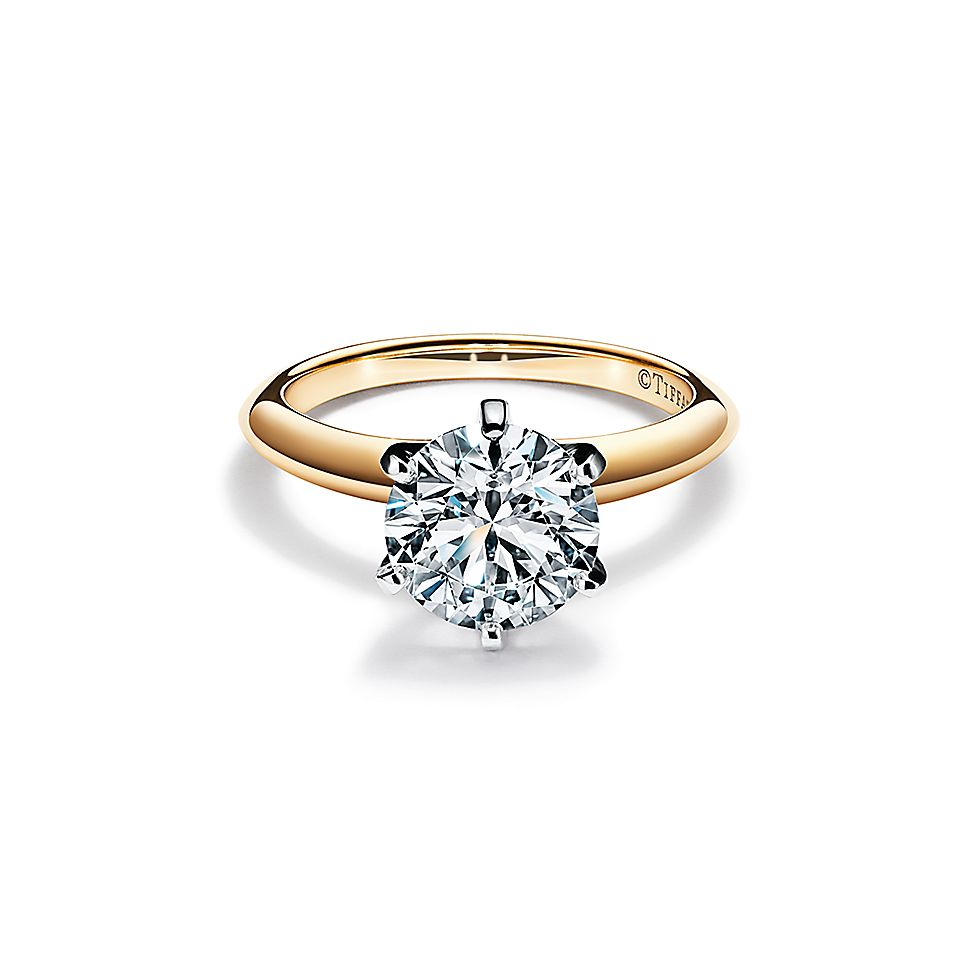 Wedding Rings Pictures.The Tiffany Setting Engagement Ring In 18k Yellow Gold