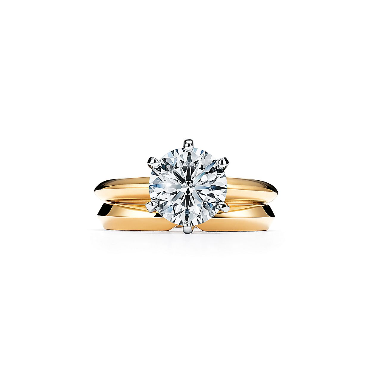 f2cf89c21 The Tiffany® Setting Engagement Ring in 18k Yellow Gold