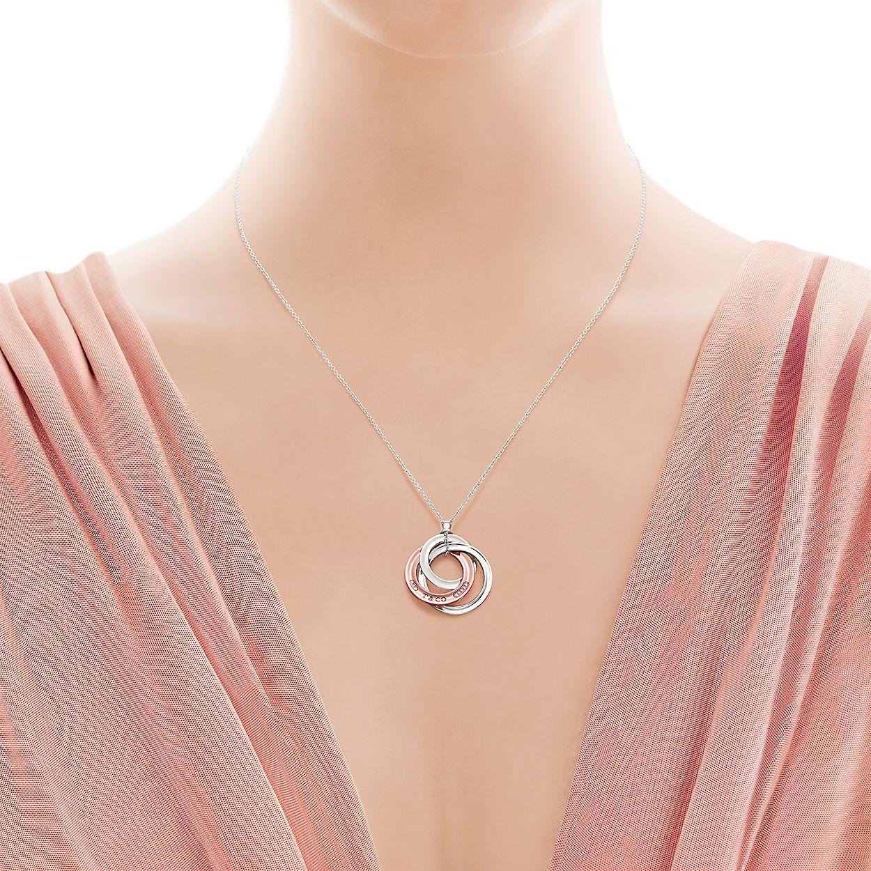 ef8f8349c Tiffany 1837® interlocking circles pendant in Rubedo® metal, small ...