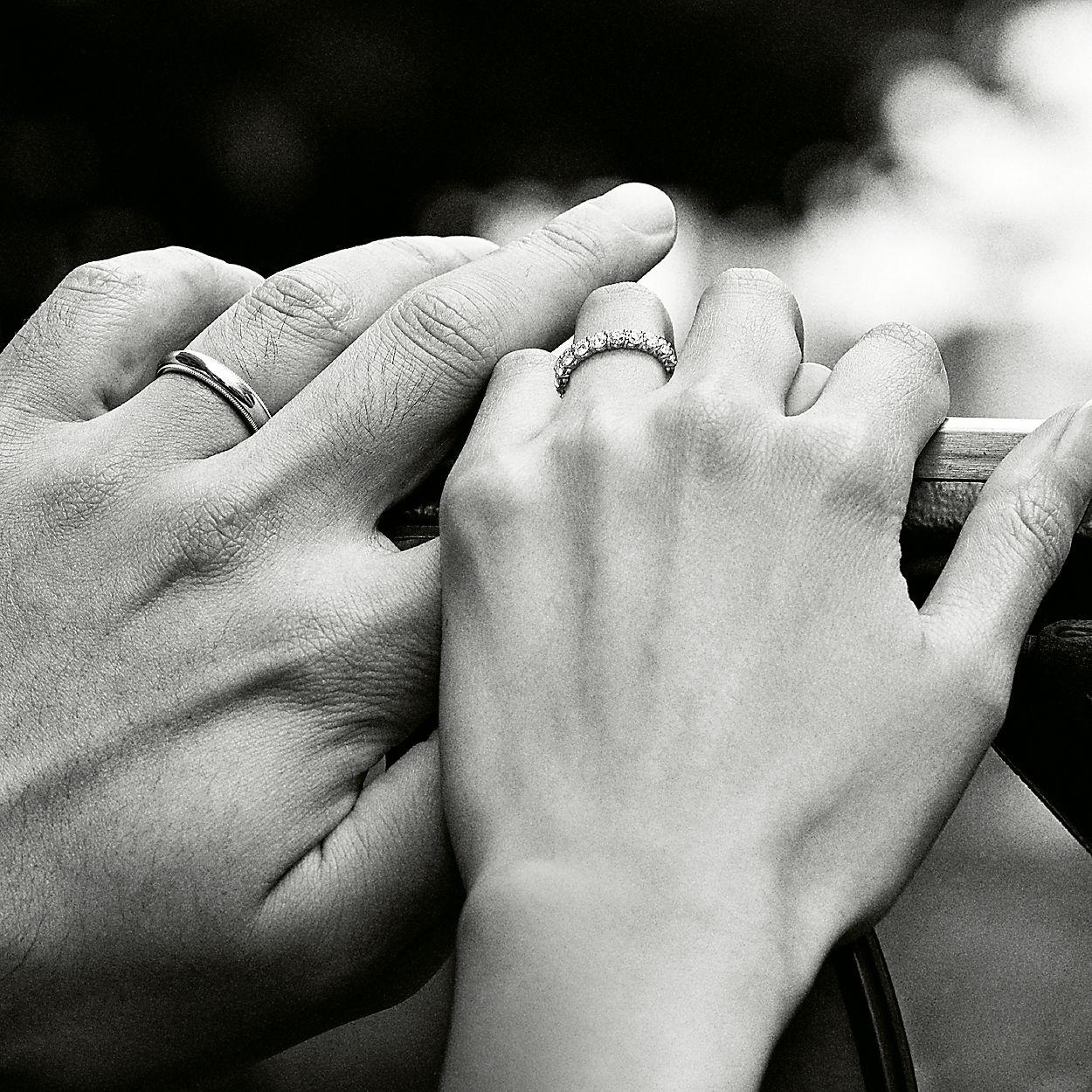 11deca851 Tiffany Classic™ milgrain wedding band ring in platinum, 3 mm wide ...