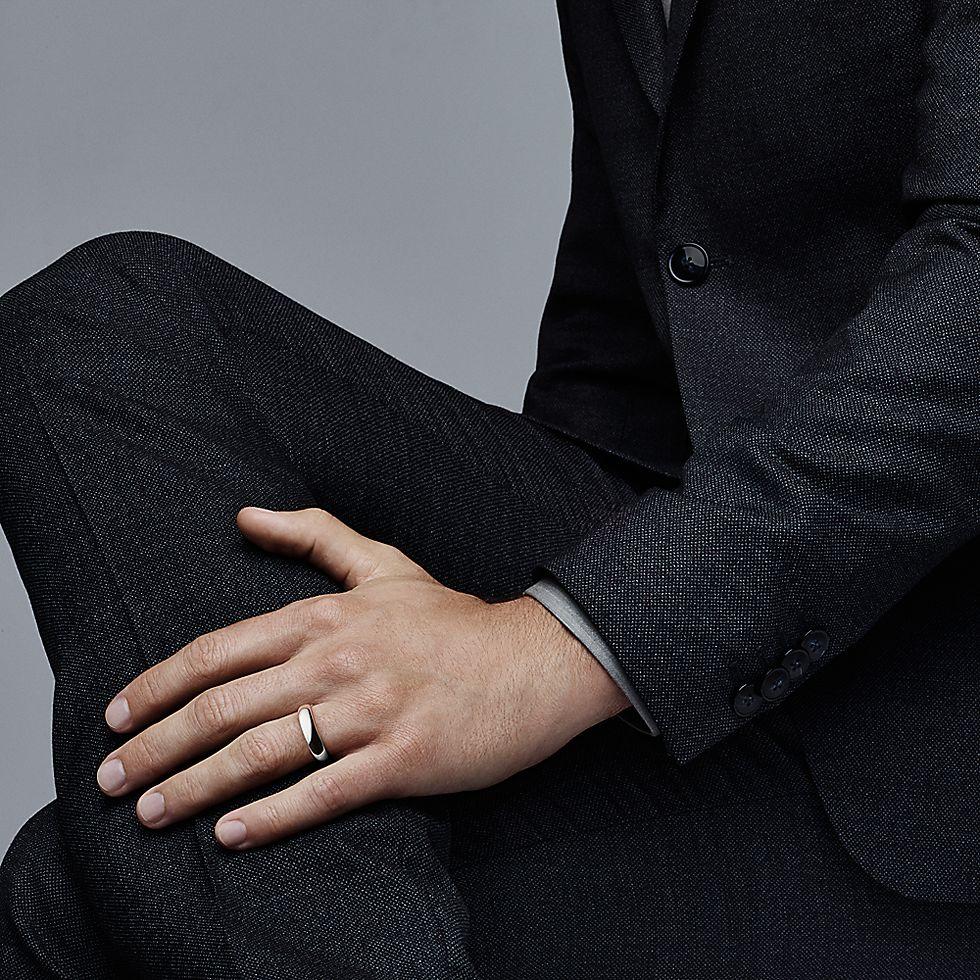 ef4ccc2f0 Tiffany Classic™ wedding band ring in platinum, 4.5 mm wide. | Tiffany & Co.
