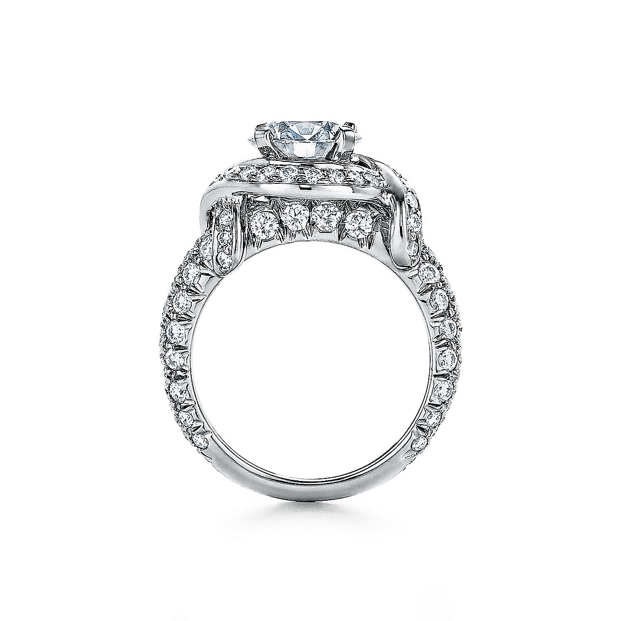 a0af1071b Tiffany & Co. Schlumberger Round Brilliant Engagement Ring with a Diamond  Platinum Band