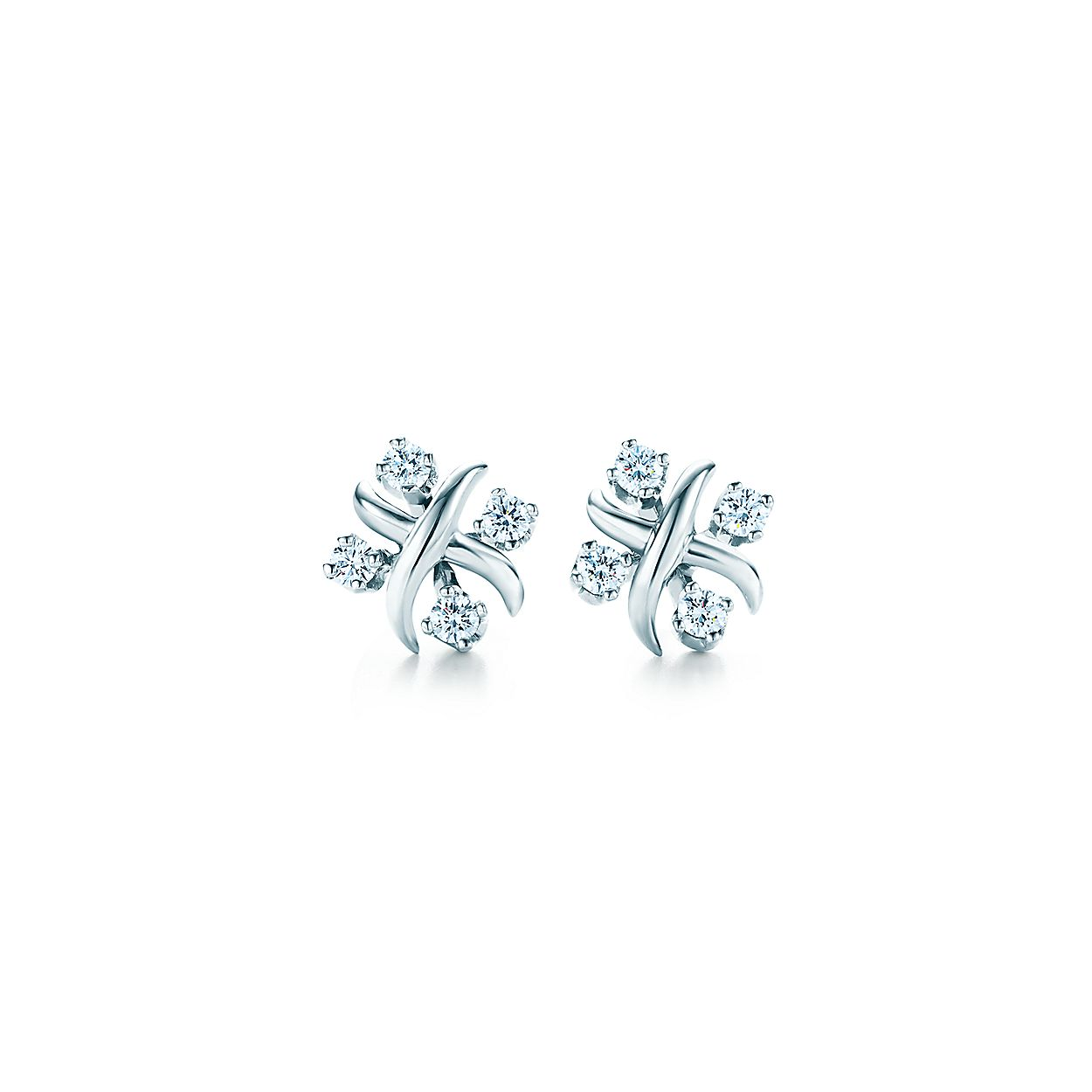 8d1d03a1a Tiffany & Co. Schlumberger® Lynn earrings in platinum with diamonds ...