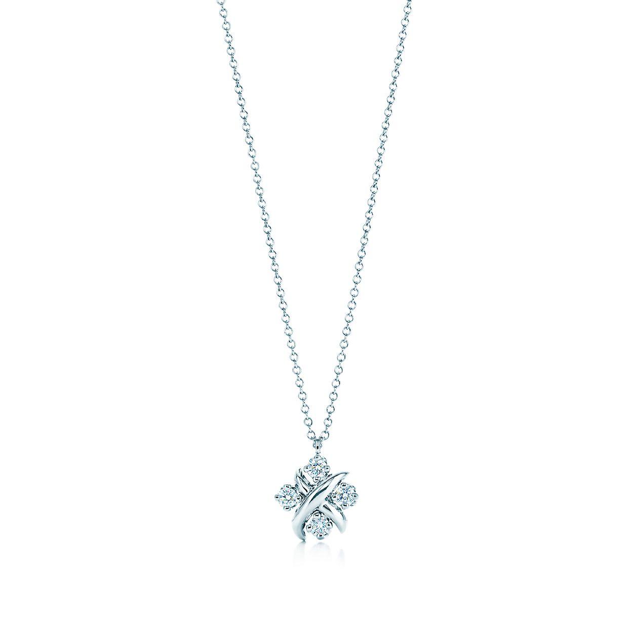 f549eab56 Tiffany & Co. Schlumberger Lynn pendant in platinum with diamonds ...