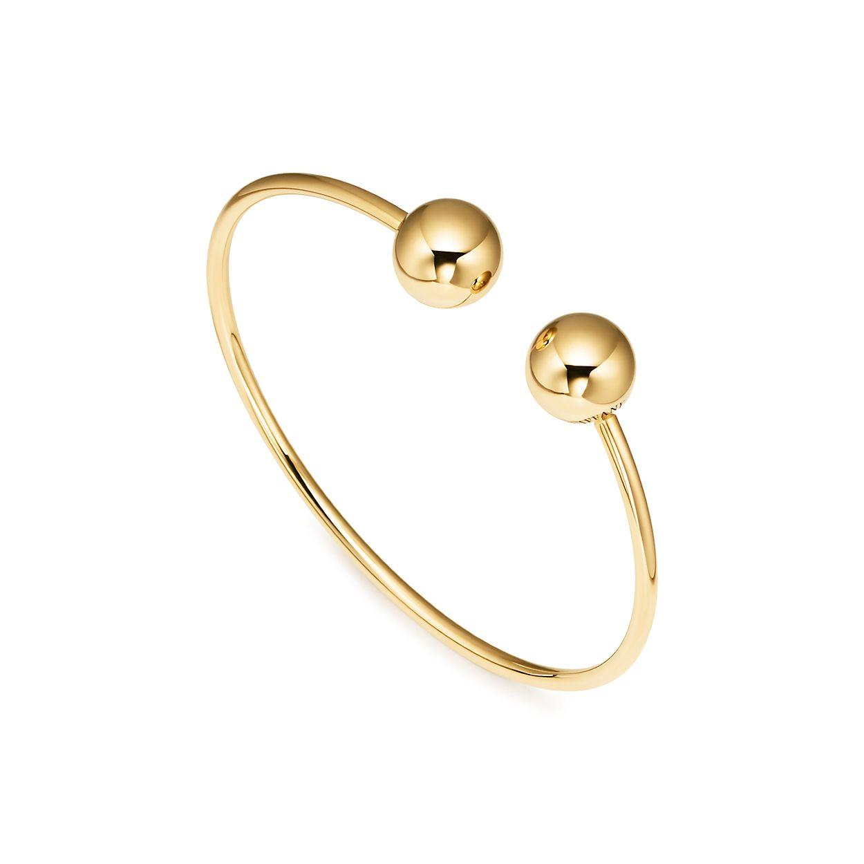 6ae101cd9 Tiffany HardWear ball wire bracelet in 18k gold, medium. | Tiffany & Co.
