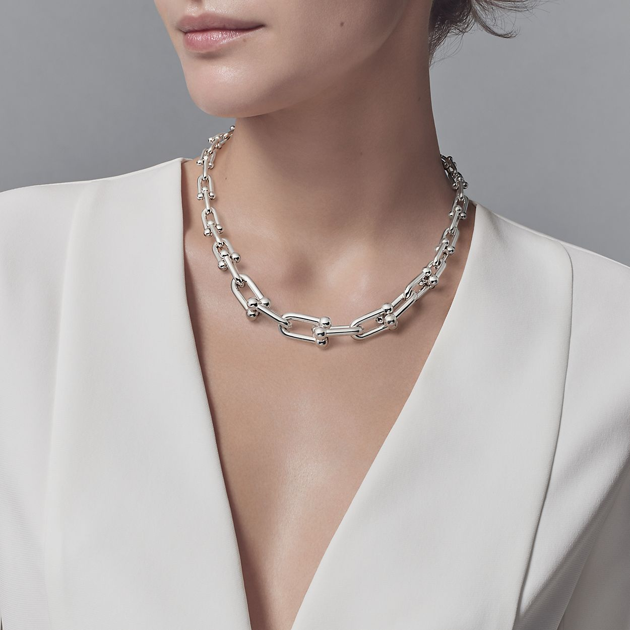 746a7331e Tiffany HardWear Sterling Silver Link Necklace | Tiffany & Co.
